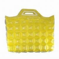 Wholesale Transparent Yellow Color Inflatable Beach Bag, Made of PVC, Measures 40cm from china suppliers