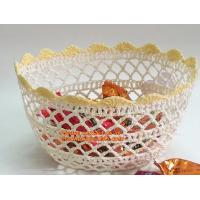 Buy cheap Handmade Craft Stiffened Cotton Crochet Home Decorative Candy Basket Baby Photo Prop from wholesalers