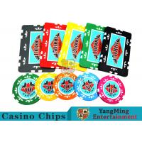 Buy cheap Entertainment ABS Plastic RFID Casino Chips With Custom Logo Dedicated Box from wholesalers