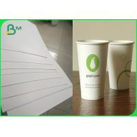 Buy cheap Fully Renewable Cupstock Paper Rolls Coated Polyethylene 18g + 10gsm from wholesalers