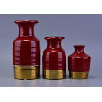 Buy cheap Red Luxury Ceramic Aroma reed diffuser bottles bulk For Wedding Decoration from wholesalers