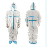 Buy cheap Quick Dry Disposable Protective Suit Medical Isolation Clothing Non Woven Fabric from wholesalers