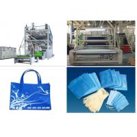 1.6 m / 2.4m Non Woven Fabric Production Line SSS PP Spunbonded Manufactures