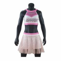 Buy cheap Adults Cheerleader Warm Up Suits Crop And Pleated Skirt Anti Bacterial from wholesalers