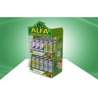 Buy cheap Vitamin Heathcare Products Green Cardboard Countertop Displays Custom from wholesalers