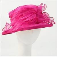 Fuchsia Breathable Organza Hat Upbrim With Small Elastic Band Inside Manufactures