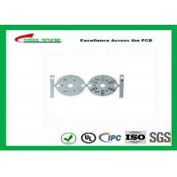 Buy cheap HASL  LED PCB Board Design Aluminum Base material 1.6mm White round circuit board from wholesalers