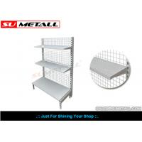 Buy cheap Wall Unit Supermarket Display Racks , Convenience Store Shelving Mesh Grid Back Panel from wholesalers