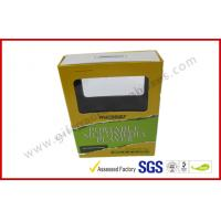 Transparent Window Electronics Gift Packaging , Printed Paper Standard Magnetic Box Manufactures