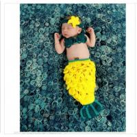 Wholesale yellow Pineapple baby hat Photography Prop Crochet Knitted costume set headwear flower from china suppliers