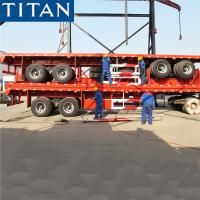 Buy cheap TITAN 20/40ft bogie suspension commercial flatbed trailer manufacturers from wholesalers