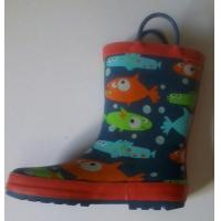 Buy cheap kid's rubber boots with a lot of fish from wholesalers