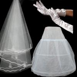 long satin gloves Dress Pannier Manufactures