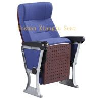 Wooden Arm Surface Finish Folding Auditorium Chairs With ABS Pad / Tip Up Seat Manufactures