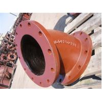 Buy cheap Red epoxy coating Ductile iron fittings Double Socket Bend Double flange bend product