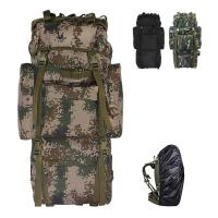 Buy cheap 65L camouflage large capacity mountaineering backpack tactical camping backpack Oxford backpack from wholesalers