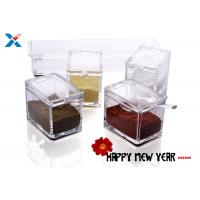 Buy cheap Transparent Acrylic Box , Acrylic Seasoning Box For Nuts / Sauces Storage product