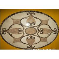 Wholesale Natural Decor Stone Waterjet Medallions Floor Inlay Design from china suppliers