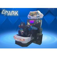 China Crazy and Funny Arcade Car Racing Games Machine with Flashing Light on sale