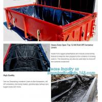 Buy cheap Transparent Open Top 8mil Roll Off Container Liners,6 Mil Waterproof Open Top Roll Off Container Liners,Outdoor Dumpster from wholesalers