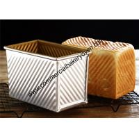 Buy cheap Large Capacity Bread Making Molds , Gold Loaf Bread Box With Cover from wholesalers