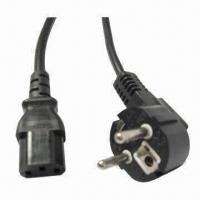 Buy cheap Europe Power Cord with IEC C13 and RoHS/PAHS marks from wholesalers