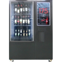 Buy cheap Big Touch Screen Bottle Wine Vending Machine With Remote Platform And Coin Bill Acceptor from wholesalers