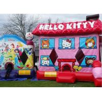Buy cheap Pink Hello Kitty Inflatable Bouncer , Blow Up Kids Bouncy Castle For Backyard Fun from wholesalers