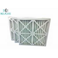 Wholesale Cardboard Frame Hvac Pre Filter , Pleated Panel HVAC Furnace Filter G4 from china suppliers