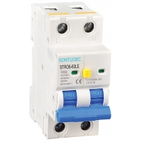 Buy cheap Two Pole RCBO 4.5kA 30maElectronic Circuit Breaker from wholesalers