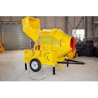 Buy cheap 35 - 45s Building Mixer Machine, 14r / Min Drum JZR350 Concrete Mixer Diesel product