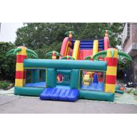 Buy cheap Giant Inflatable Palm Tree Slides / Inflatable Combo With Safety Rail Protection Network from wholesalers