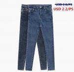 Buy cheap Stocklot Fashion cheap Custom High Waist 100% Cotton Skinny Women Jean from wholesalers