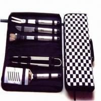Buy cheap Barbecue Tool Set, Includes Spatula, Tong, Fork, Knife and Bristle Brush from wholesalers
