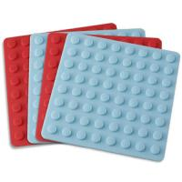 Buy cheap Kitchenware bakeware silicone thick placemat with round lines from wholesalers