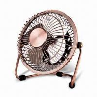 Buy cheap Fuor-inch USB Mini Fan, Made of Metal, Easy to Install, Can Be Rotate Up to 360° from wholesalers