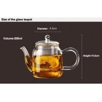 Buy cheap High Borosilicate Heat Resistant Elegant Large Capacity Flowering Glass Teapot with Safe Filter & Glass Lid from wholesalers