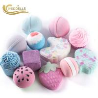 Buy cheap 120g Natural Vegan Hemp Fizzy Custom Bath Bombs For Valentine 's Day from wholesalers
