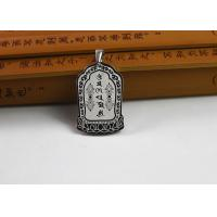 Wholesale Custom Stainless Steel Buddhist Symbol Necklace With Antique Scripture from china suppliers