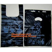Buy cheap Top quality discount pet cat packaging gusset t shirt bag, poop dog bags, cat bags, waste from wholesalers