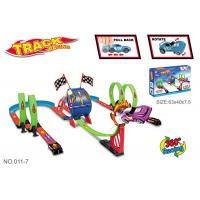 Wholesale Multiple Rolling Children's Car Race Track Sets With Two Way Driving Pull Back from china suppliers