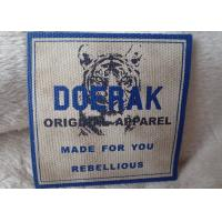Buy cheap High Density 3D Organic Canvas Screen Printing Label For Children'S Garments from wholesalers