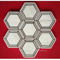 Buy cheap Natural Wood White Marble Mosaic Tiles product