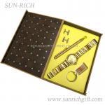 Buy cheap Fashion Golden Man's watch ball pen Key chain 5 pcs gift set from wholesalers