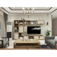 Buy cheap Bespoke Living Room Wall Cabinet Floor TV Stand And Storage Display Racks For Space Saving Furniture In Apartment House from wholesalers