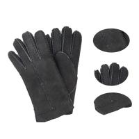Buy cheap Lady fashion lamb fur double face leather winter gloves from wholesalers