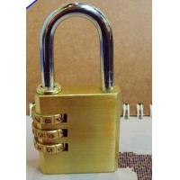 Wholesale 3 Digits Brass Combination Padlock Heavy Duty Brass Lock CR-04X from china suppliers