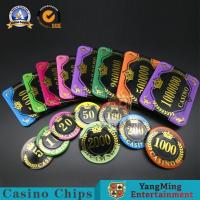 Wholesale Gambling RFID Code Square Poker Chips / Personalized Rectangle UV 12g Casino Acrylic Chips Set from china suppliers