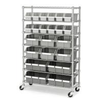 Buy cheap 7 Shelf 22 Bins Kitchen Storage Mobile Wire Shelving Standard Size from wholesalers