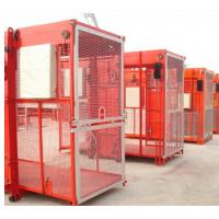 Buy cheap Single Cabin Construction Hoist Elevator For 2 Ton Loaing Capacity 3 Level Speed VFC Motor from wholesalers